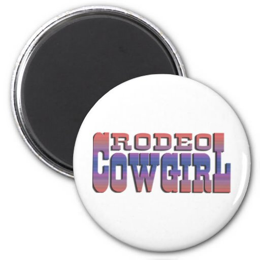 RODEO COWGIRL FRIDGE MAGNET