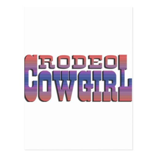 RODEO COWGIRL POSTCARD