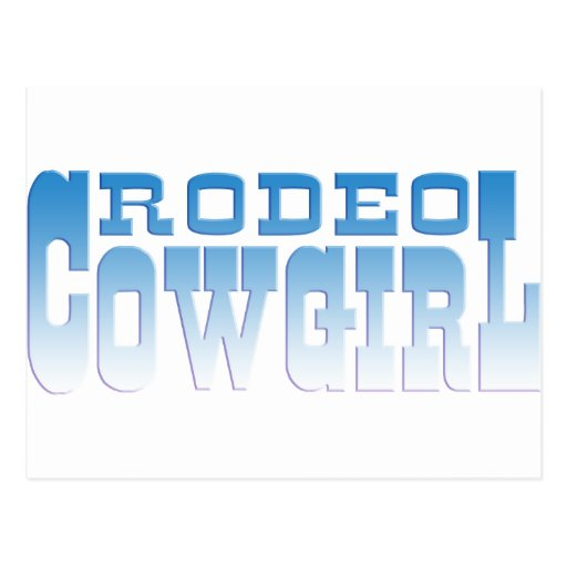 RODEO COWGIRL POST CARD