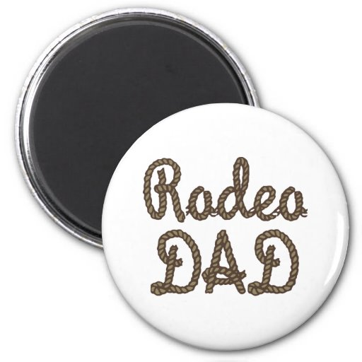Rodeo Dad Fridge Magnets