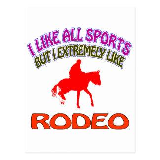 Rodeo designs postcard