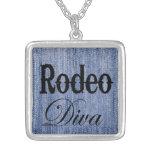 Rodeo Diva, cowgirl pendant