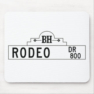 Rodeo Drive, Los Angeles, CA Street Sign Mouse Pad