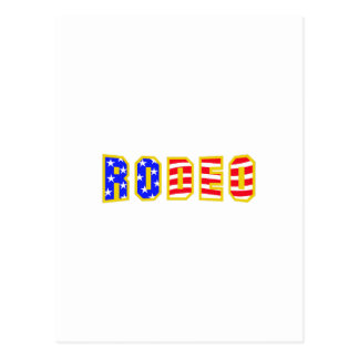 RODEO FLAG LETTERS POST CARD