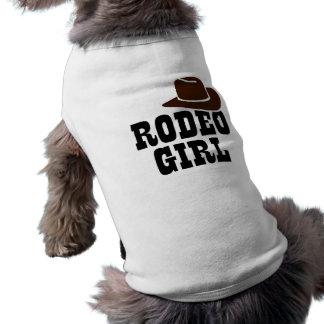 Rodeo girl sleeveless dog shirt