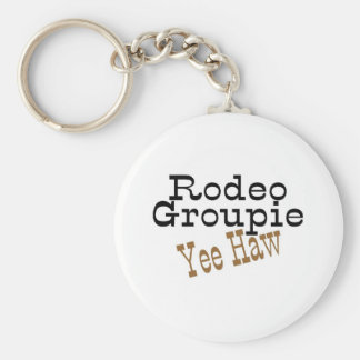 Rodeo Groupie Yee Haw Basic Round Button Key Ring
