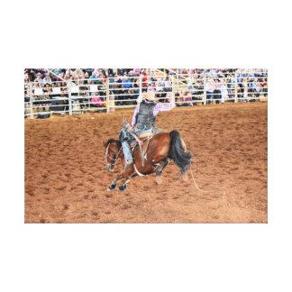 RODEO HORSE AND RIDER QUEENSLAND AUSTRALIA CANVAS PRINT