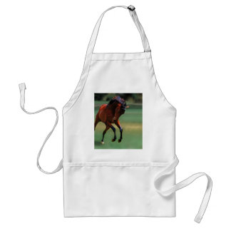 Rodeo horse for the cowboy standard apron