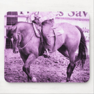 Rodeo Horse Warmup in Purple Mouse Pad