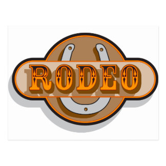 Rodeo Horseshoe Post Cards