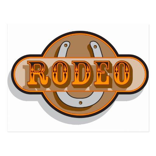 Rodeo Horseshoe Post Cards