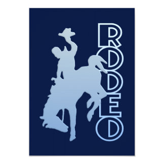 Rodeo invitation, customize card