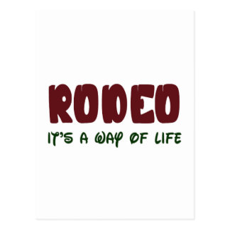 Rodeo It's a way of life Postcard