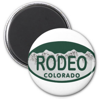 rodeo license oval refrigerator magnet