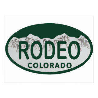 rodeo license oval post card
