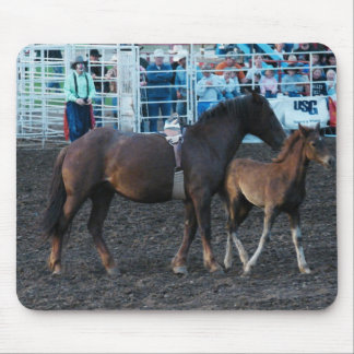 Rodeo Mare and Foal Mouse Pad