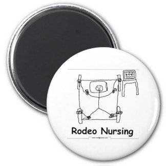 Rodeo Nursing 6 Cm Round Magnet