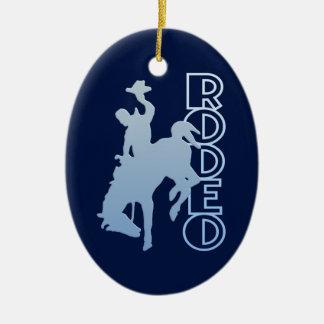 RODEO ornament, customize Ceramic Oval Decoration