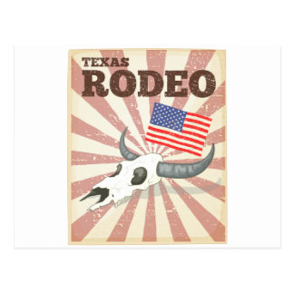 Rodeo poster postcard