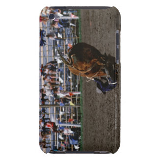 Rodeo rider falling from bull iPod touch cover