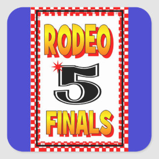 RODEO STICKER CONTESTANT BACK NUMBER STICKER