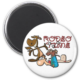 Rodeo Time 6 Cm Round Magnet