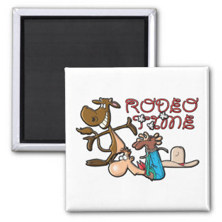 Rodeo Time Square Magnet