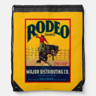 Rodeo Vegetable LabelSalinas, CA Drawstring Bag