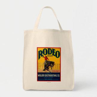 Rodeo Vegetable LabelSalinas, CA Tote Bag