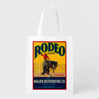 Rodeo Vegetable LabelSalinas, CA Reusable Grocery Bags