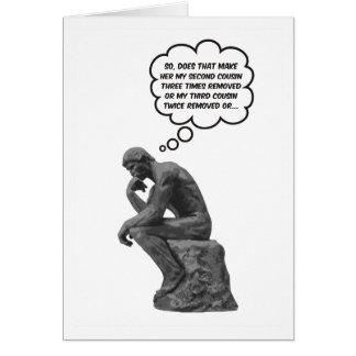 Rodin s Thinker - Cousins Card