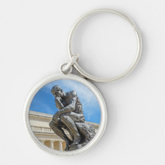 Rodin Thinker Statue Key Ring