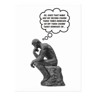 Rodin's Thinker - Cousins Postcard
