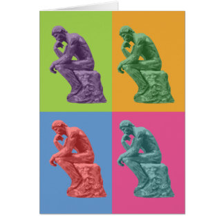 Rodin's Thinker - Pop Art Card