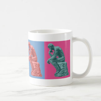 Rodin's Thinker - Pop Art Coffee Mug