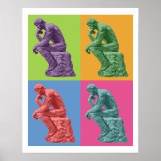 Rodin's Thinker - Pop Art Poster