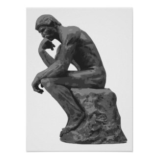 Rodin's Thinker Poster