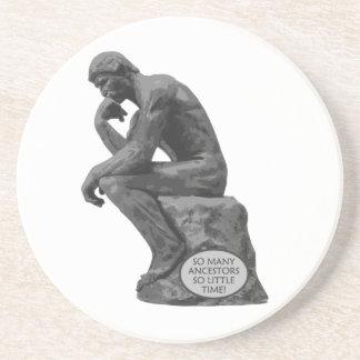 Rodin's Thinker - So Many Ancestors Coaster