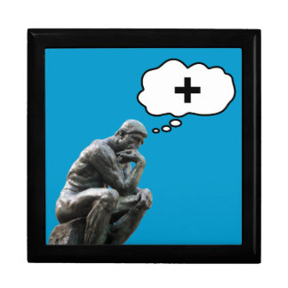 Rodin's Thinker Statue - Think Positive Large Square Gift Box