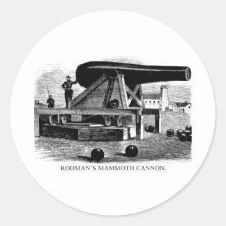 Rodman's Mammoth Cannon Round Sticker