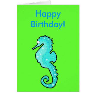Rodney Seahorse Greetings Card