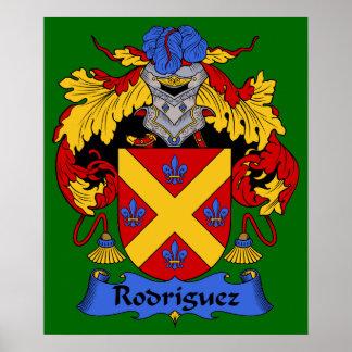 Rodriguez Coat of Arms Heraldic Print