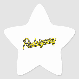 Rodriguez in yellow star sticker