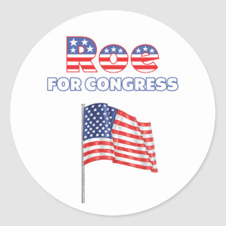 Roe for Congress Patriotic American Flag Stickers