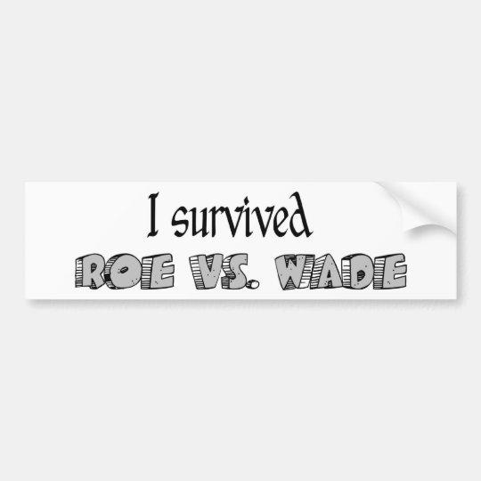 Roe vs Wade Sticker Bumper Sticker