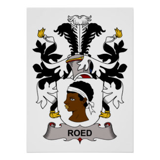 Roed Family Crest Posters