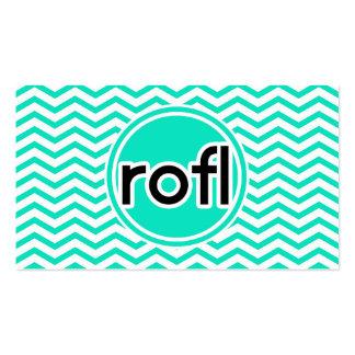 rofl; Aqua Green Chevron Pack Of Standard Business Cards