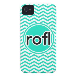 rofl Aqua Green Chevron iPhone 4 Case