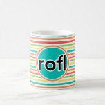 rofl, Bright Rainbow Stripes Mug