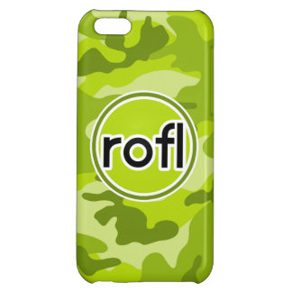 rofl Lime Green Camo Camouflage iPhone 5C Cases
